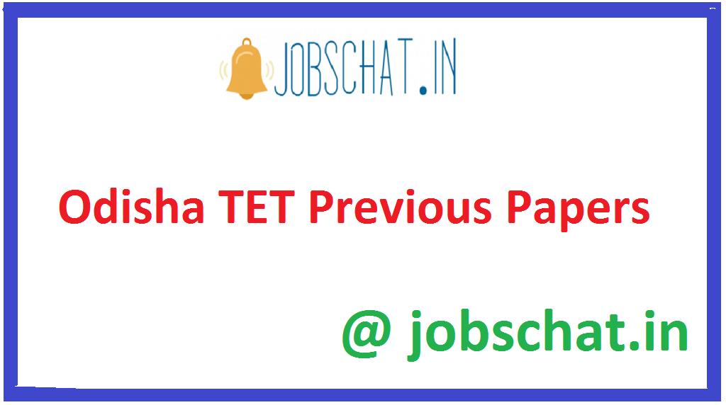 Odisha TET Previous Papers