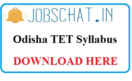 Odisha TET Syllabus
