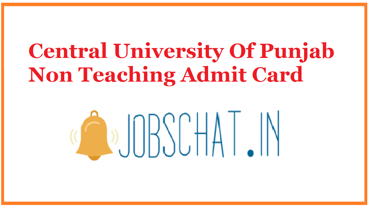 Central University Of Punjab Non Teaching Admit Card