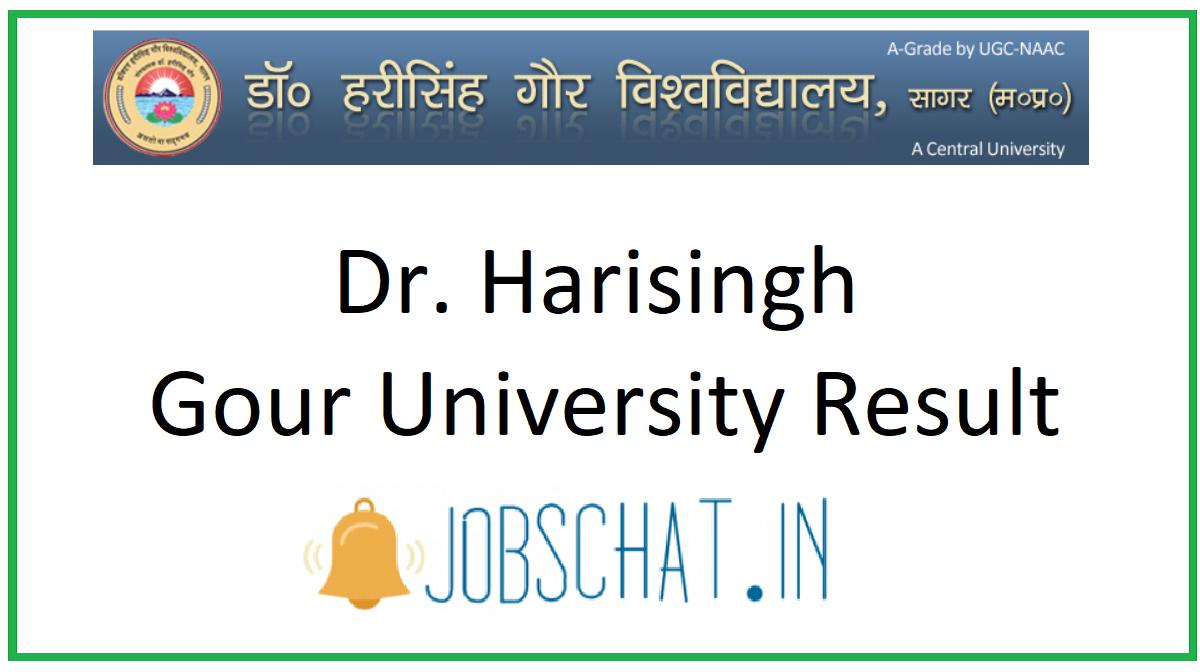 Dr. Harisingh Gour University Result