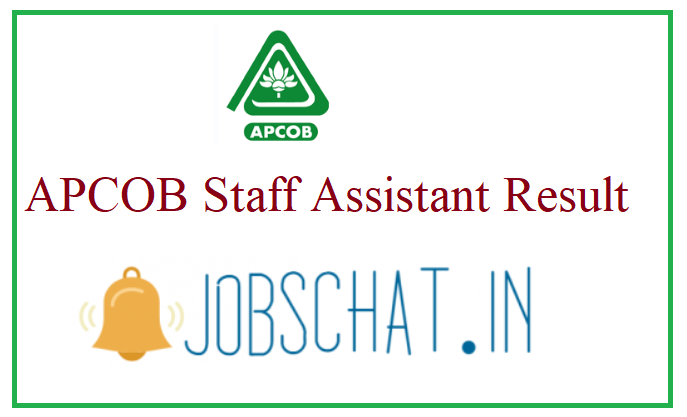 APCOB Staff Assistant Result