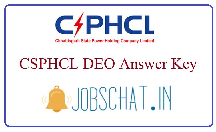 CSPHCL DEO Answer Key