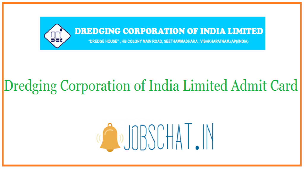 Dredging Corporation of India Limited Admit Card
