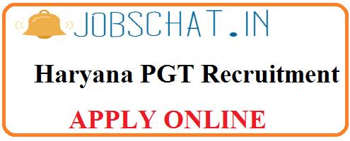 Haryana PGT Recruitment