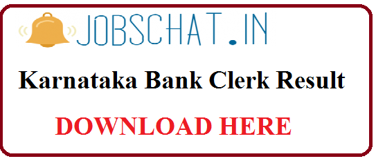Karnataka Bank Clerk Result