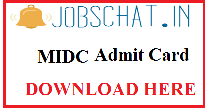 MIDC Admit Card