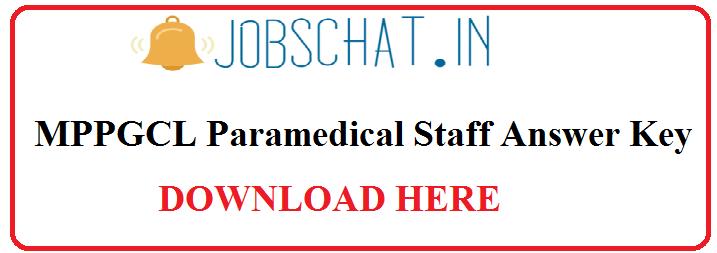 MPPGCL Paramedical Staff Answer Key