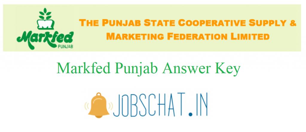 Markfed Punjab Answer Key
