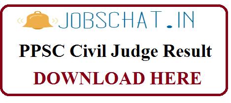 PPSC Civil Judge Result