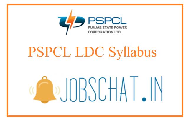 PSPCL LDC Syllabus