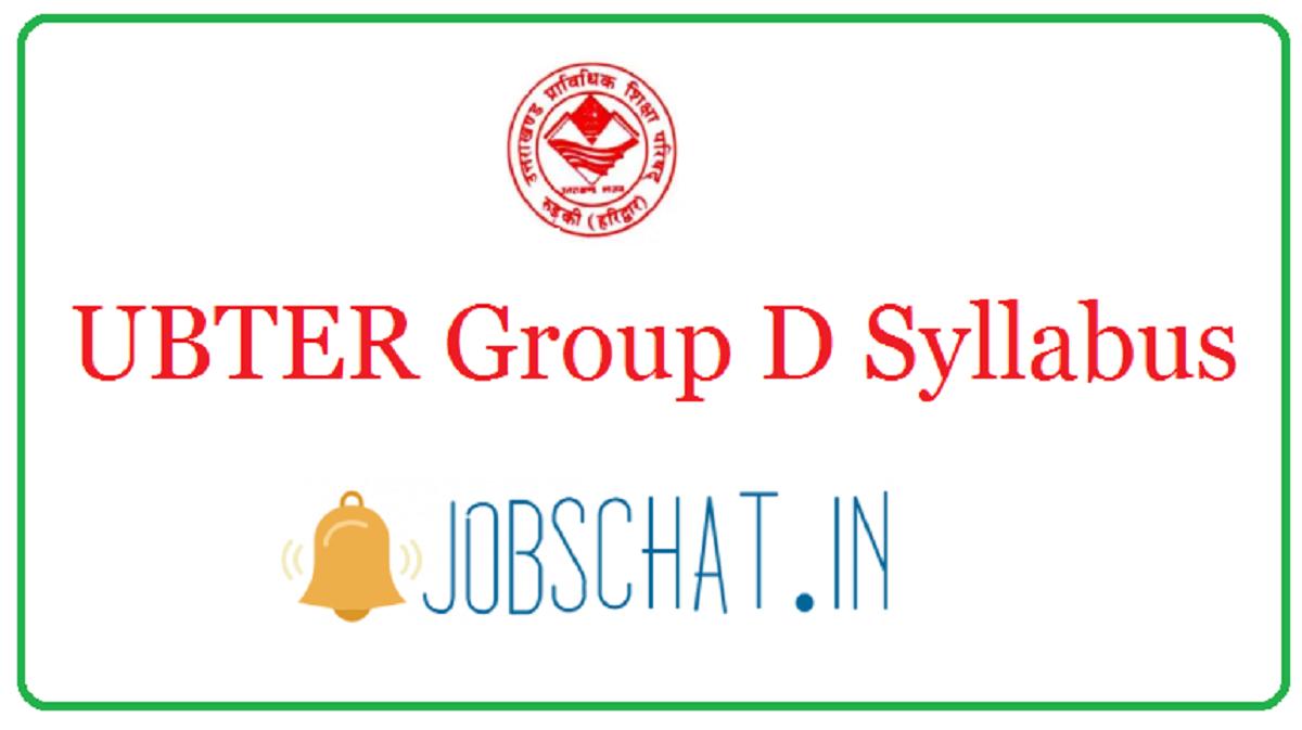 UBTER Group D Syllabus