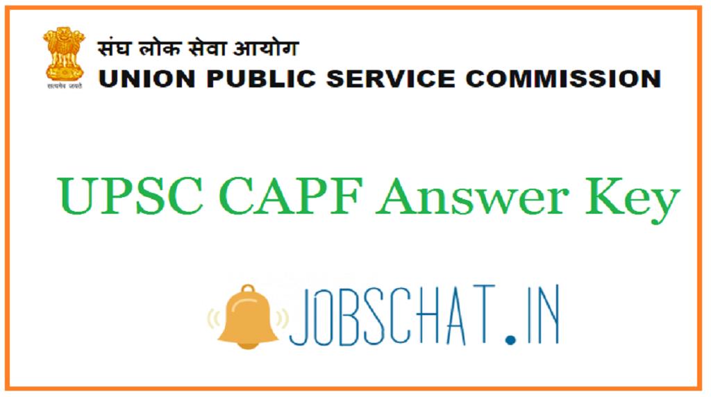 UPSC CAPF Answer Key