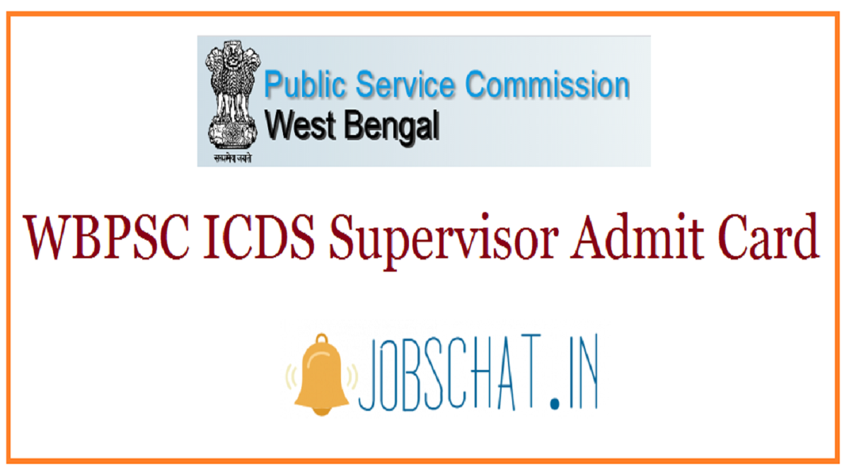 WBPSC ICDS Supervisor Admit Card