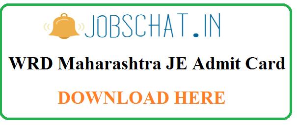 WRD Maharashtra JE Admit Card