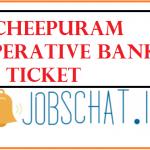 ncheepuram Cooperative Bank Hall Ticket