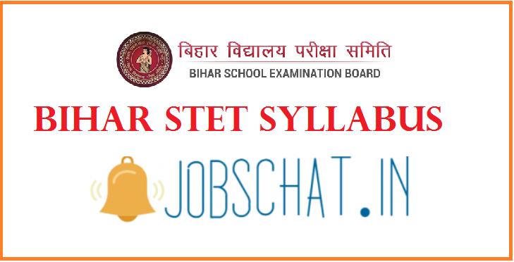 Bihar STET Syllabus
