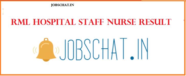 RML Hospital Staff Nurse Result