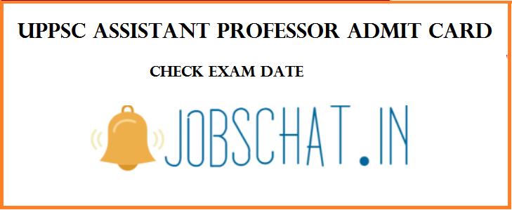 UPPSC Assistant Professor Admit Card