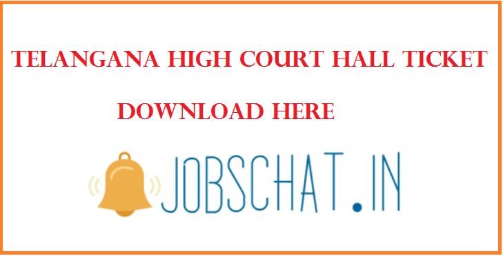 Telangana High Court Hall Ticket