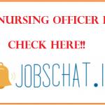 DSSSB Nursing Officer Result