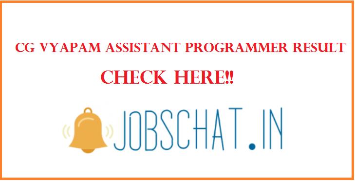 CG Vyapam Assistant Programmer Result