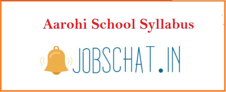 Aarohi School Syllabus 2019