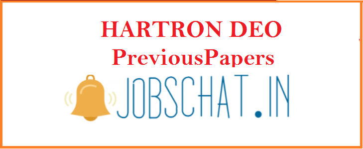 HARTRON DEO Previous Papers