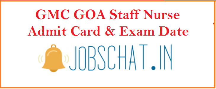 GMC GOA Staff Nurse Admit Card