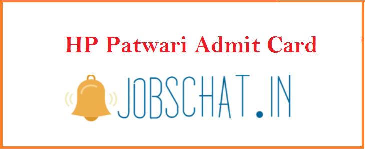 HP Patwari Admit Card 2019