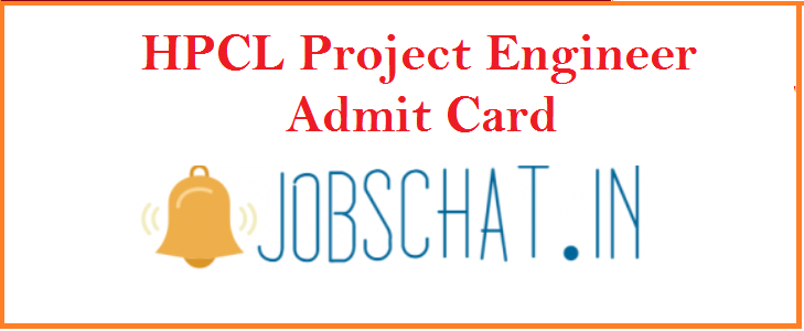 HPCL Project Engineer Admit Card 2019