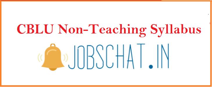 CBLU Non-Teaching Syllabus 2019