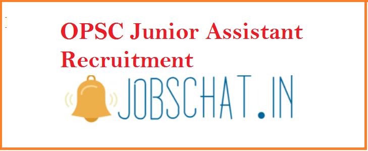 OPSC Junoir Assistant Recruitment