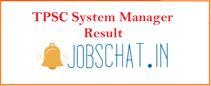 TPSC System Manager Result 2019