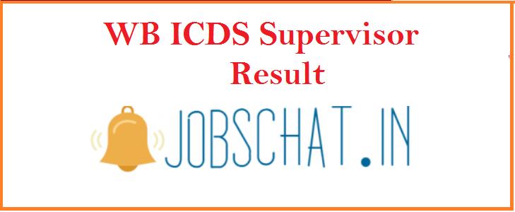 WB ICDS Supervisor Result 2019