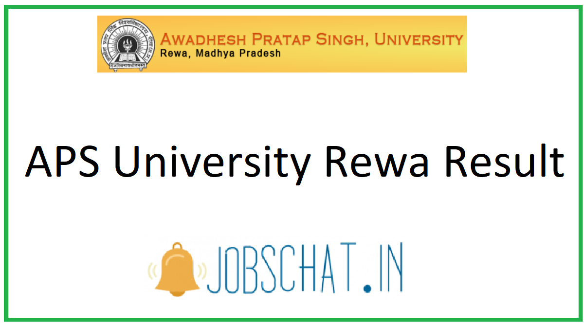 APS University Rewa Result