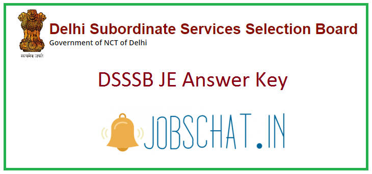 DSSSB JE Answer Key