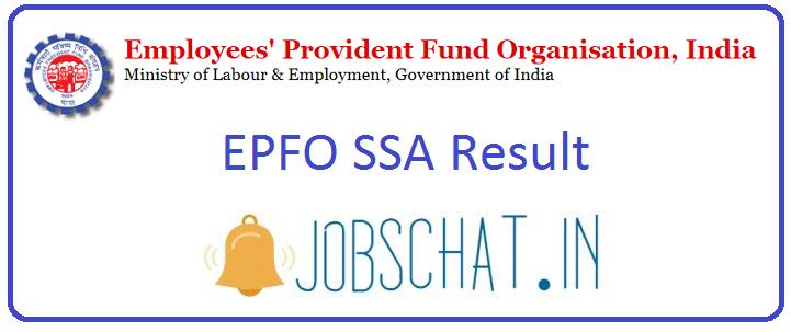 EPFO SSA Result