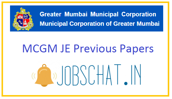 MCGM JE Previous Papers