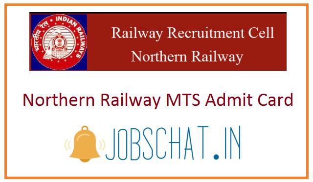 Northern Railway MTS Admit Card