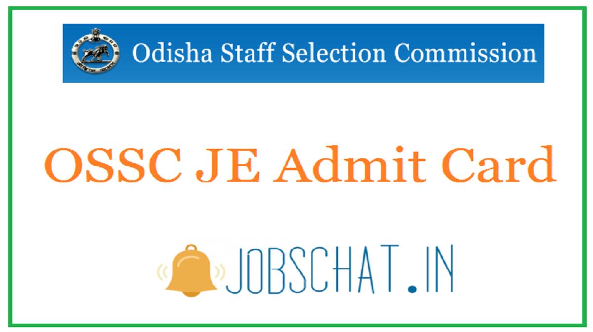 OSSC JE Admit Card
