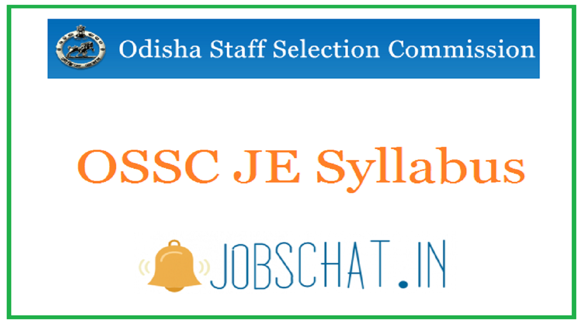 OSSC JE Syllabus