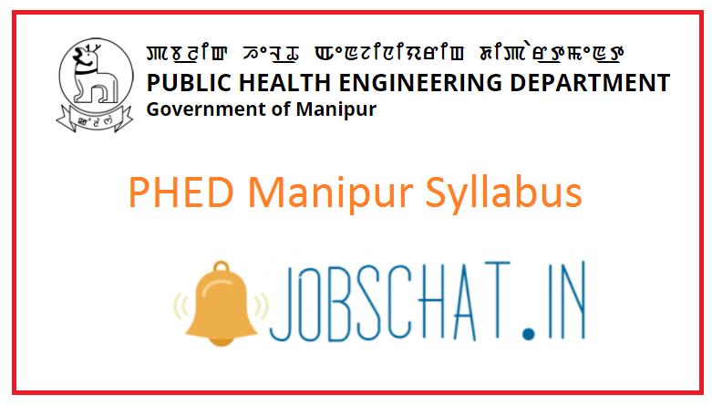 PHED Manipur Syllabus