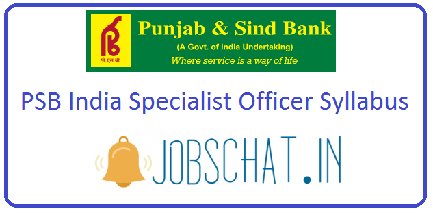 PSB India Specialist Officer Syllabus