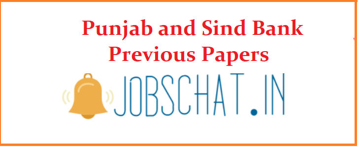 Punjab and Sind Bank Previous Papers