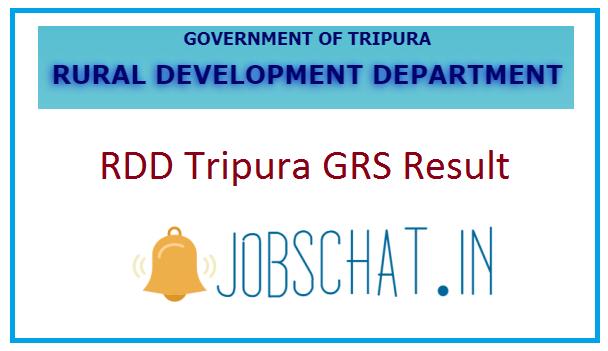 RDD Tripura GRS Result