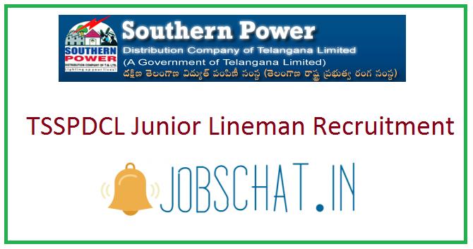 TSSPDCL Junior Lineman Recruitment