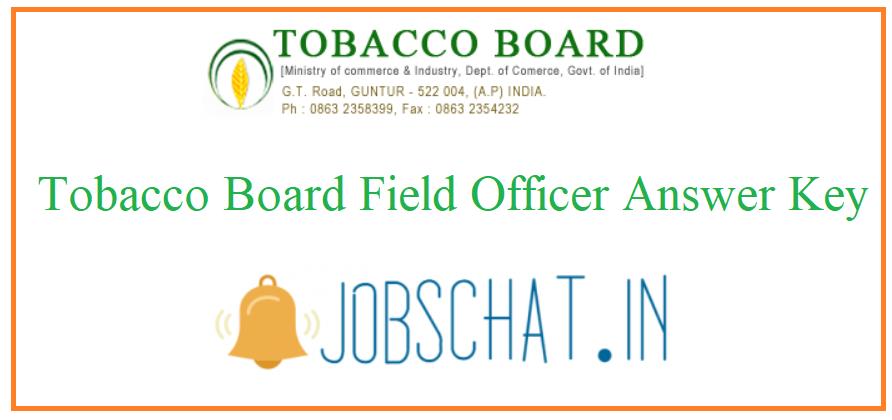 Tobacco Board Field Officer Answer Key