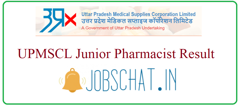 UPMSCL Junior Pharmacist Result