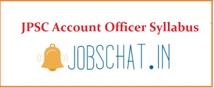 JPSC Account Officer Syllabus