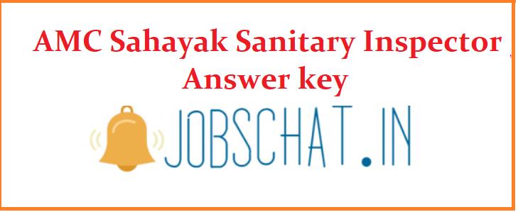 AMC Sahayak Sanitary Inspector Answer key